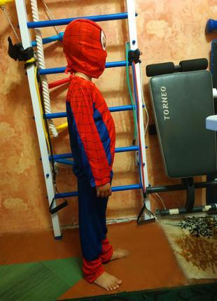 Новогодний карнавальный костюм spider man, человек паук на 6-7...