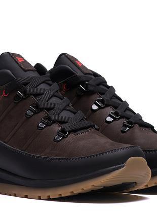 Мужские зимние кожаные ботинки на натуральном меху Fila