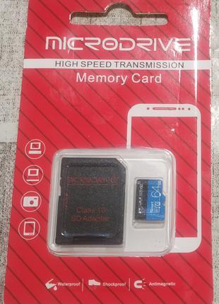 64 gb гб швидкісна карта V30 Microdrive Microdata