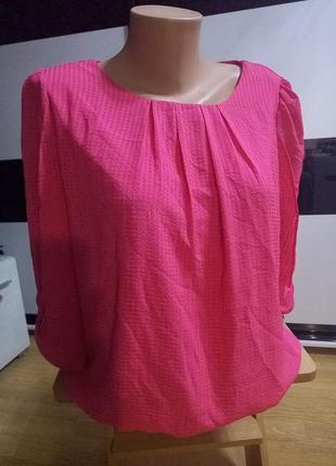 Яркая  фирменная кофта,блуза,рукав 3/4.f&f