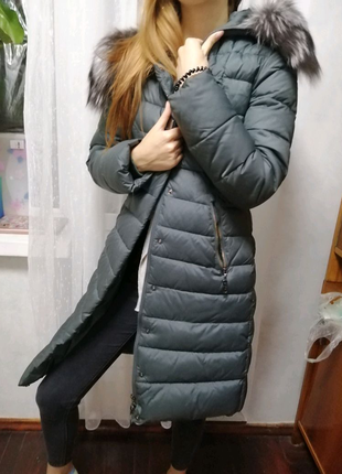 Пуховик пальто, женский, куртка зимняя