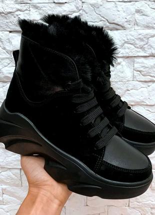 Ботинки, кожаные ботинки, зимние ботинки, ботинки на платформе