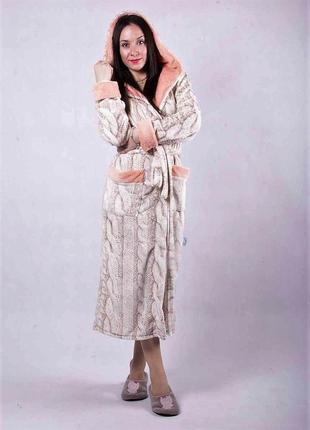 Халаты на подарок. длинный красивый махровый халат женский