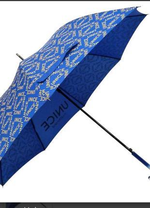Дизайнерский зонт трость синий юнайс unice
