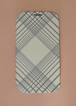 Чехол Miracase для Samsung I9500 S4 white-grey 0304