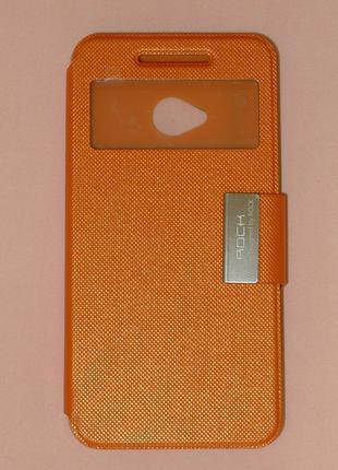 Чехол Rock для HTC One M7 orange 0305