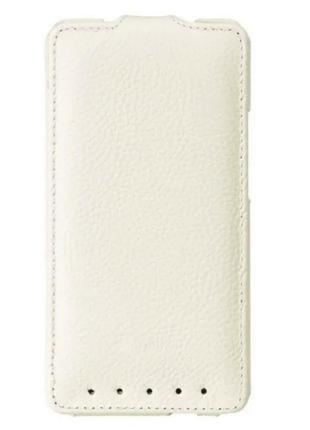 Чехол флип Melkco Leather Case Jacka HTC One M7 White