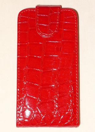 Чехол NN для Lenovo A516 red croco 0343