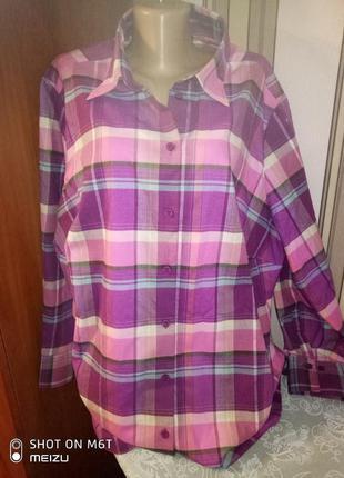 Рубашка теплая с длинным рукавом