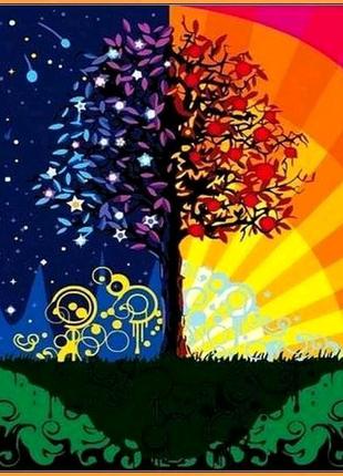 Картина по номерам Дерево счастья