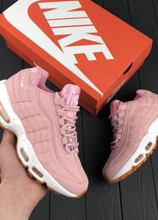 АКЦИЯ! Nike Air Max 95 Pink. Кроссовки Найк Аир Макс Розовые Ж...