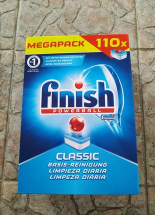 Таблетки для посудомойки Finish classic  110шт финиш  класик