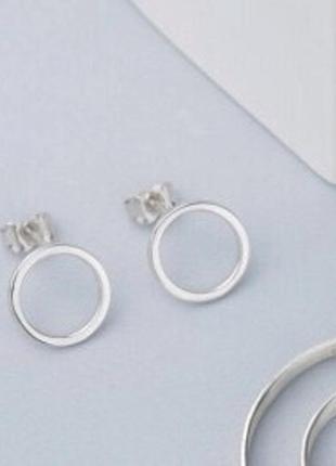 Серьги серебро 925 гвоздики рр004