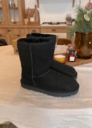 Ugg женские зимние сапоги угг черные с мехом