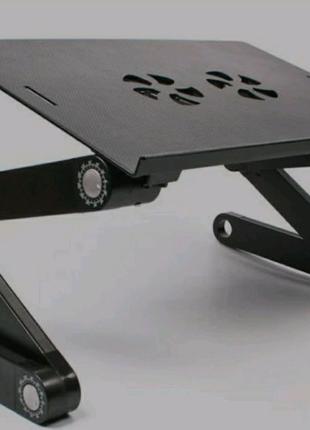 Столик трансформер для ноутбука с охлаждением Laptop Table T8 USB