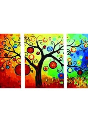 Картина по номерам Триптих Денежное дерево
