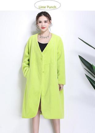 Женское пальто-накидка с рукавами летучая мышь.