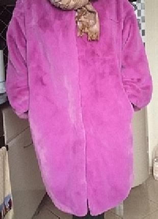 Женское демисезонное пальто лавандового цвета