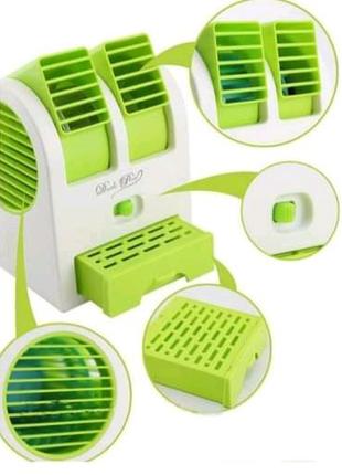 Настольный мини кондиционер Conditioning Air Cooler USB салатовый