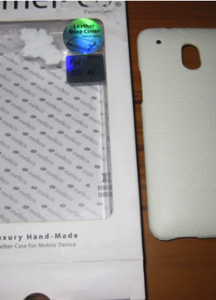 Чехол Melkco Leather Snap Cover HTC One mini M4-white
