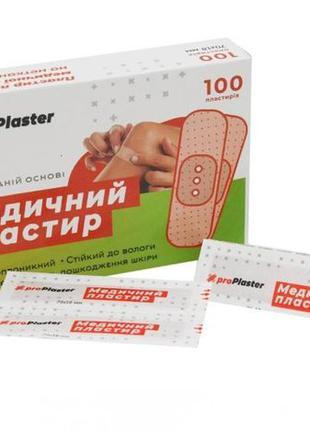 Пластырь медицинский Pro Plaster (18-70 мм, 100 штук)