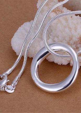 🌺🌿🌷стильная серебряная цепочка подвеска кулон