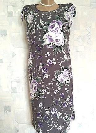 Удачное натуральное платье из штапеля 46 размер (м)