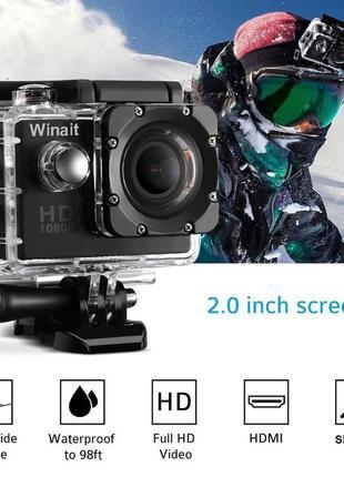 Экшн камера A7 Action Camera D600 А7 ЕКШН GoPro Беспроводная+ПОД