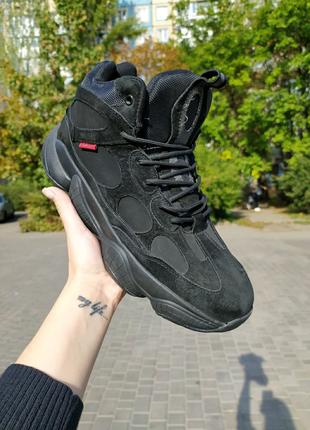 Ботинки мужские зима чёрные