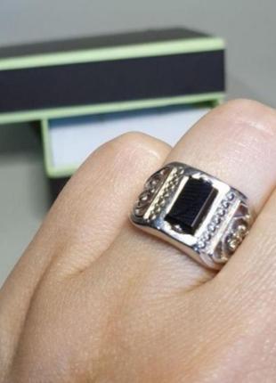Серебряный перстень, печатка, мужское кольцо, 925, серебро