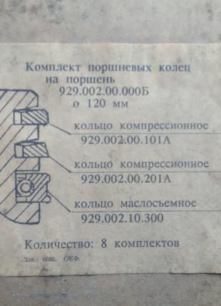 Новые поршневые кольца для двигателей КамАЗ-740