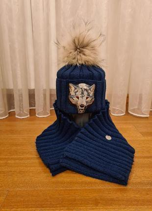 Набор шапка и шарф