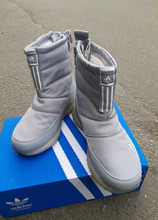 Шикарные женские зимние сапоги дутики adidas