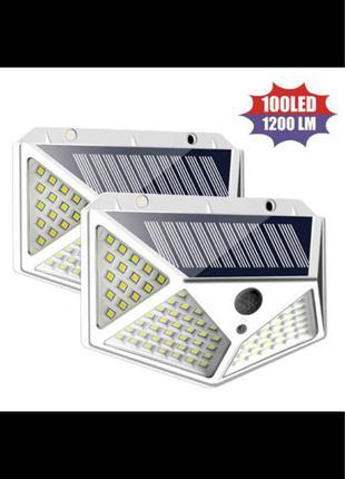 Светильник на солнечных батареях  датчик движения