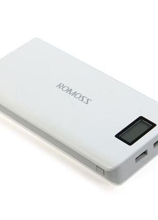 Power Bank Romoss LCD 50000mAh Sense 6 PLUS 2USB, повербанк с экр