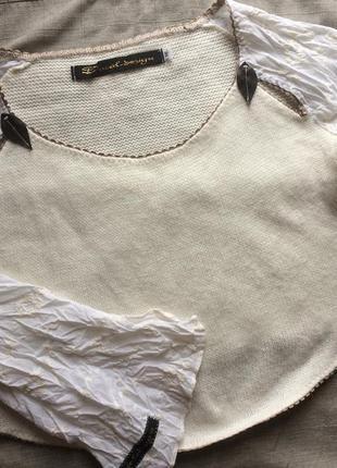 Оригинальный короткий кроп свитер ducal design