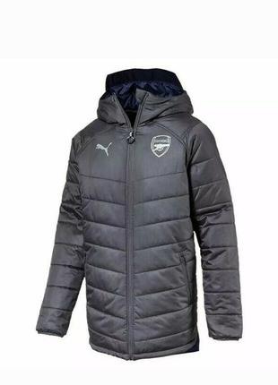 Мужская  двухсторонняя  зимняя куртка puma arsenal