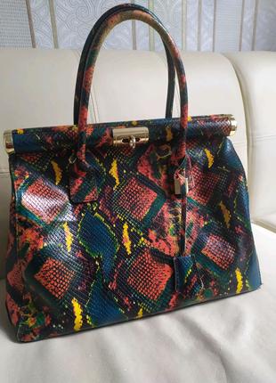 Кожаная итальянская сумка в стиле Furla, Bierken Michael Kors