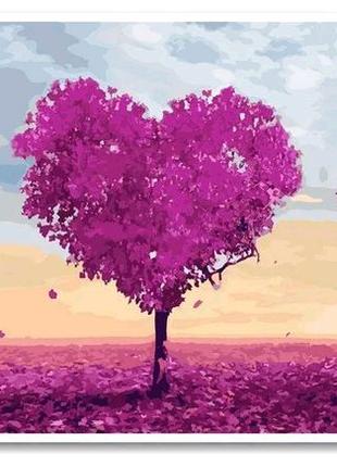 Картина по номерам Триптих Дерево любви