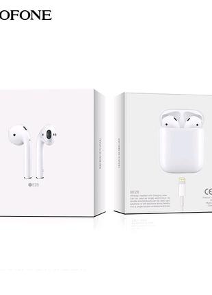 Беспроводные Bluetooth наушники Borofone BE28 Plus (Белые)