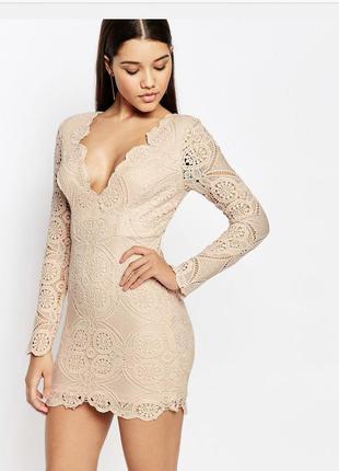 Кружевное мини платье, вечернее кружевное платье мини,