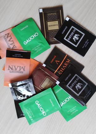 Пробники мужских парфюмов Farmasi (тестеры, сашеты)