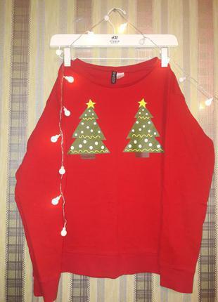 Новогодний Рождественский праздничный свитер свитшот H&M