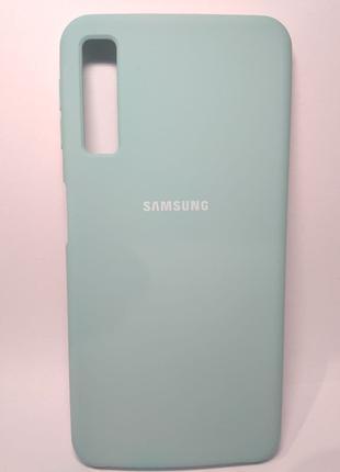Задня накладка Samsung A750 Silicone Cover Turquoise