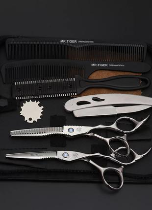 Профессиональный набор для стрижки волос Mr. Tiger 6, ножницы