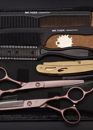 Профессиональный набор для стрижки волос Mr. Tiger 6.0 ножницы