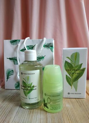 Набор зеленый чай в подарочном пакете