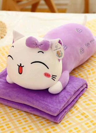 Детская игрушка с пледом, плед подушка игрушка, детский плед