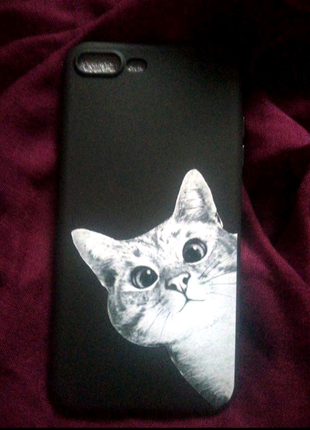 Чехол с котом на айфон 7+/8+