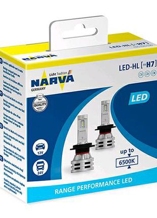 LED лампа Narva Range Performance LED H7 6500K 24W 12/24V